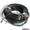 팬-아웃 유형 옥외 방수 광학적인 Multi-Fiber 패치 케이블