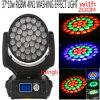 37*10W RGBW 4in1 LED 이동하는 헤드 급상승 기능을%s 가진 세척 효력 빛