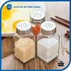 Tarro de cristal de la especia de la coctelera de sal y de pimienta