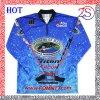 Großhandels-Polyester-Wärmeübertragung-Drucken fertigt Fischen-Hemden kundenspezifisch an