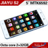 Android 4.2.2 Mtk6592, Cortex A7 Octa Core, 1.7GHz; GPU: Mali-450 MP4 Jiayu S2