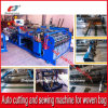 Découpage automatique de fournisseur de la Chine et machine à coudre pour le roulis de sac tissé par plastique de pp