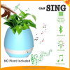 Musique de piano d'usine de contact jouant le haut-parleur sec rond de Bluetooth d'éclairage LED multicolore sec de Flowerpot