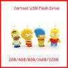 Movimentação do flash do USB dos desenhos animados do USB Pendrive da família de Simpson