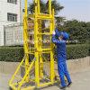 Fibra de vidro Reinforced Plastic Ladders com Wheels
