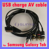 USB Charger sistema de pesos americano Audio Video Cable Connector de la tabulación P1000 para Samsung Galaxy (SL-C36)