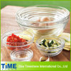 Durable Glass Kitchen Stackable Clear Bowl Set (15033002)
