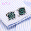 Men를 위한 VAGULA 2016년 Fashion Paiting Flower Wedding Cufflinks