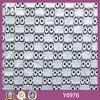 女性の服の正方形プリントレースファブリック(Y6976)