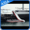 Outdoor Sea Yacht Water Slide, Air Tight Floating Inflatable Yacht Slide para venda