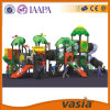 Material plástico do campo de jogos e tipo ao ar livre corrediça espiral aberta do campo de jogos