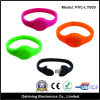 Movimentação de borracha do flash do USB da forma fina colorida do relógio da faixa (PVC-LY009)