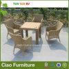 Freizeit-im Freien Möbel-synthetisches Rattan-Weidentisch und Stuhl