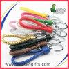Großverkauf gesponnener Seil-Streifen-Schlüsselring-Zoll Keychain