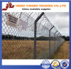 Protective Fence with Hard and Stable Barbed Iron Wire
