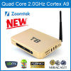 Quad Android Core TV Box T8 con Aluminum Caso