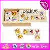 Cadeau lumineux supérieur de l'intelligence 2015 pour le jouet animal de puzzle de domino en bois d'enfants, puzzle en bois éducatif de domino avec la boîte W15A023