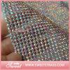 45*120 Cmの熱い苦境3mmアルミニウム水晶ラインストーンの網シート