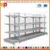 Doppeltes Seiten-Draht-Rückseiten-Supermarkt-Ausstellungsstand-Regal (ZHs645)