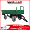 4 rodas Double Axle Farm Trailer em Rear Dumping 7cx-8