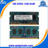 Volledige Ecc van Compatible Non Unbuffered SODIMM 1GB Memory RAM DDR3