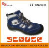 Sapatas de segurança azuis do martelo com dedo do pé de aço RS706