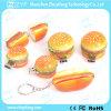 Kundenspezifisches nachgemachtes Hamburger USB-Blitz-Laufwerk mit Schlüsselring (ZYF1046)