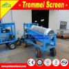 Equipo de cribado de oro pequeño Trommel Gl510 Mobile Sand Washing Machine