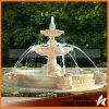 Lumière Rosetta Marbre Sculpté Deux Fontaine D'Eau Tiered Dans Jardin Mf063