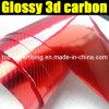 3D lucido Carbon Fiber Film con Size 1.35*30m Each Roll