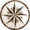Het marmeren Medaillon van het Mozaïek van de Steen van de Straal van het Water van de Kunst van het Mozaïek