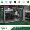 二重ガラスPVC折れ戸のテラスのドアのプラスチックフォールドのドア