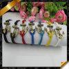 Monili multicolori del braccialetto, braccialetti Handmade dell'ancoraggio caldo di vendita (FB056)