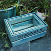 Diferente color personalizado de lujo caja de madera MDF Shell para el almacenamiento