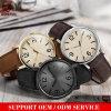Schwarze Uhrenguangzhou-ArmbanduhrMensbrown-Leder-Uhr des Mens-Yxl-740
