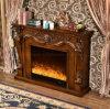 Cheminée électrique d'hôtel des meubles DEL de chaufferette antique de flamme (331B)