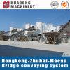 Sistema de transportador de correa de la arena y de la grava para el puente de Hong-Kong y de Macao