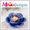 Держатель для свечи привлекательного голубого цветка форменный для домашнего украшения