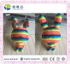 다채로운 무지개 행복한 견면 벨벳 토끼에 의하여 채워지는 장난감 아기 - 인형