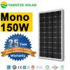 屋根のモノクリスタル150W 160W 170Wの太陽電池パネル