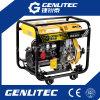 тепловозный генератор 5.0/5.5kw с электрическим стартом и колесами
