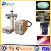 Керамика маркировки лазера волокна Китая 20W/ткань ботинка/пластичная/стальная машина
