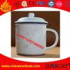 Taza blanca del esmalte/taza de café/taza de té con la cubierta