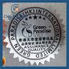 Contrassegno adesivo d'argento di Vynil di stampa dell'autoadesivo del PVC