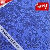 100%Nylon de blauwe Stof van het Kant van het Patroon van de Bloem