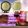 많은 색깔! LED Driving Light 9inch 185W Auto Parts LED Work Lamp Offroad 4X4 Forjeep/Tractor /Boat
