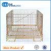 Jaula plegable galvanizada del almacenaje del acoplamiento de alambre