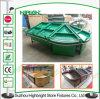 Acryldreieck-runde Supermarkt-Obst- und GemüseBildschirmanzeige-Zahnstange