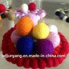 Práctico de costa de calidad superior hecho de bola del fieltro de las lanas