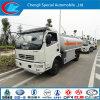 caminhão do depósito de gasolina do caminhão de tanque do óleo de 4X2 5cbm Dongfeng mini